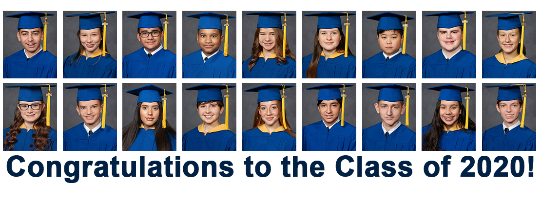 class of 2020 in caps and gowns